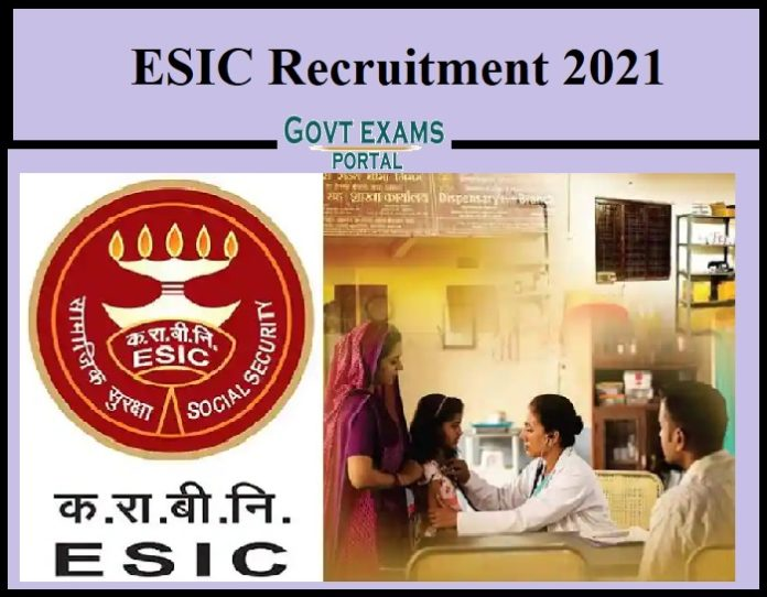 ESIC Recruitment 2021 Out