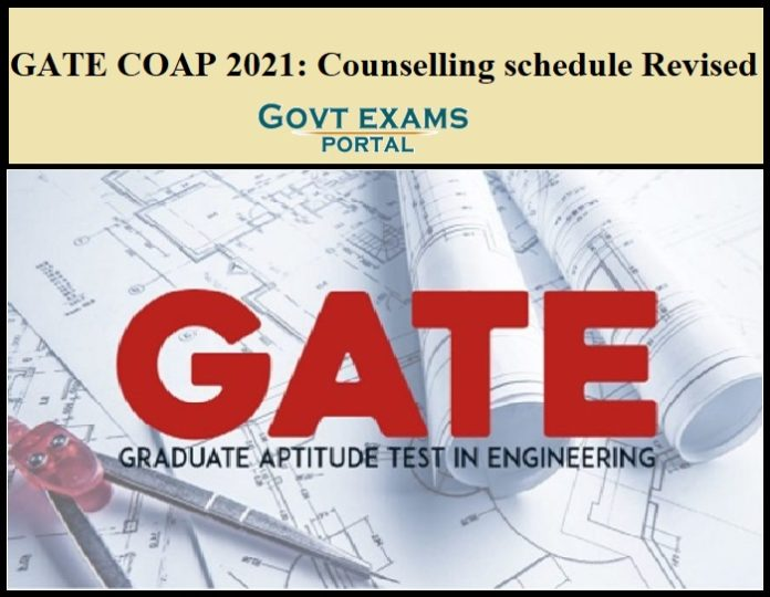 GATE COAP 2021 Counselling Schedule Revised