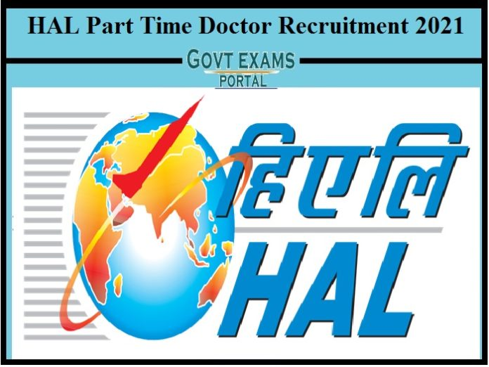 HAL Part Time Doctor Recruitment 2021