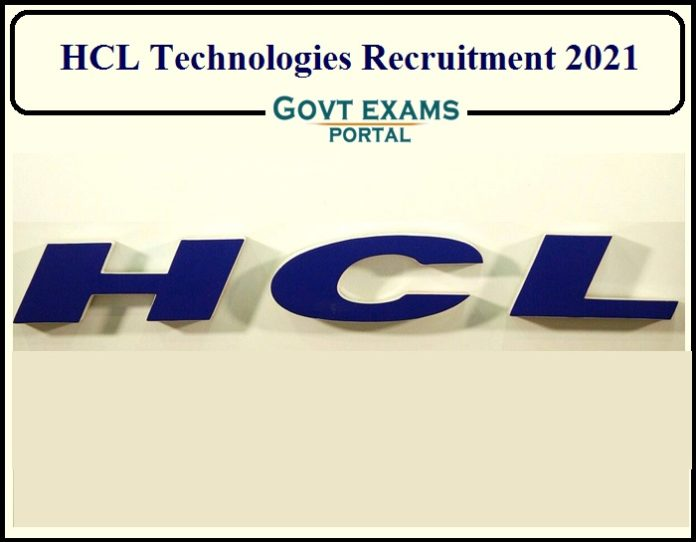 HCL Technologies Recruitment 202
