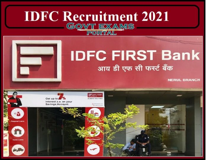 IDFC Cluster Manager Recruitment 2021