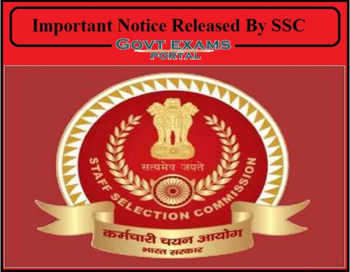 Important Notice Released By SSC