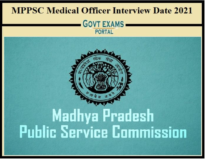 MPPSC Medical Officer Interview Date 2021