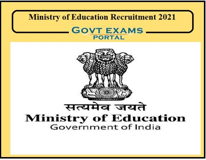 Ministry of Education Recruitment 2021
