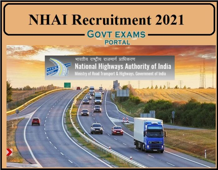 NHAI Recruitment 2021 Notification PDF Released- Apply Online Now!!!
