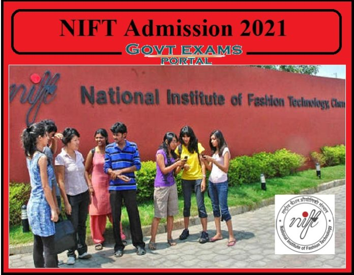 NIFT Admission Notification 2021