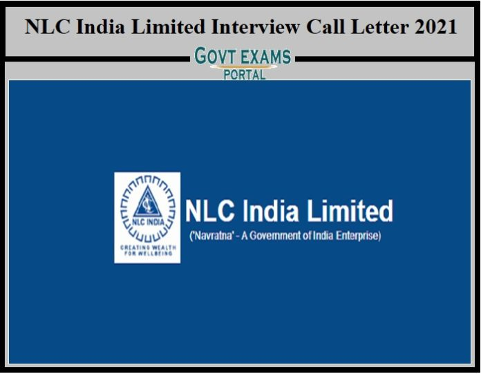 NLC India Limited Interview Call Letter 2021