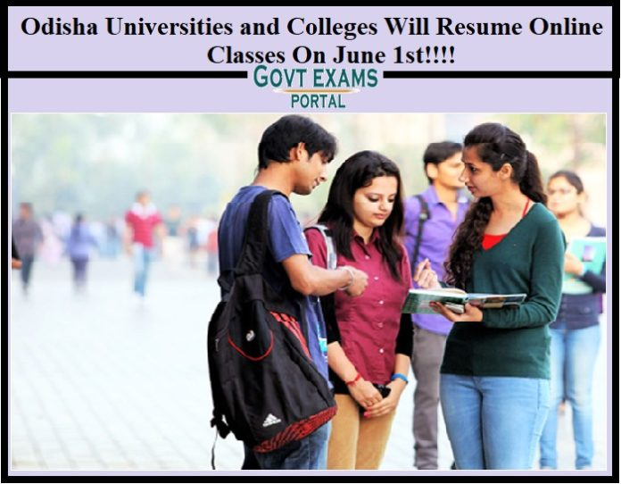 Odisha Universities and Colleges Will Resume Online Classes On June 1st