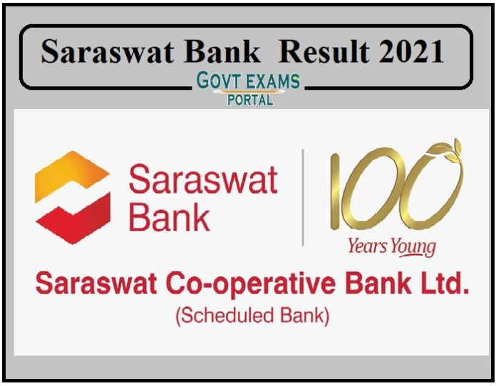 Saraswat Bank Junior Officer Result 2021