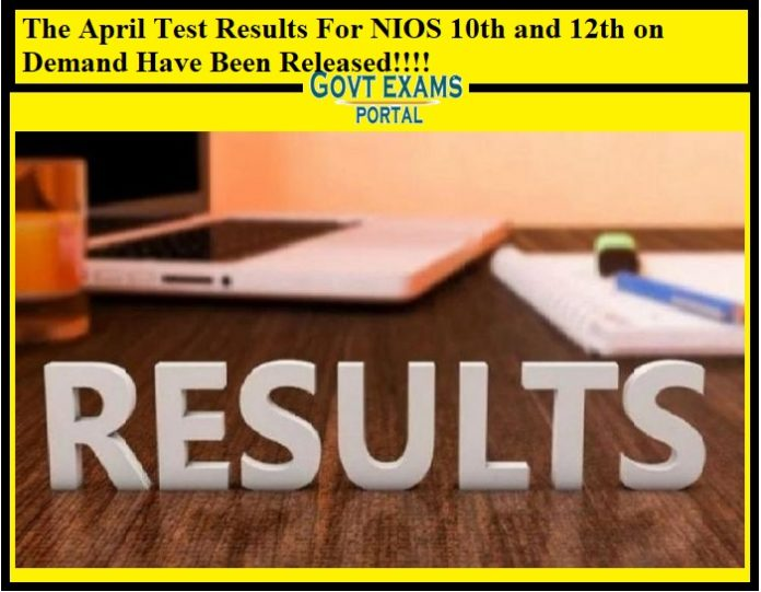 The April Test Results For NIOS 10th and 12th on Demand Have Been Released!!!!