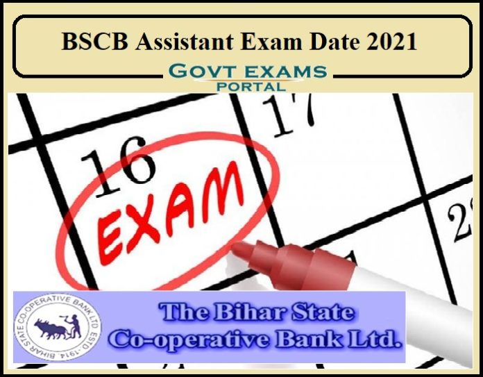 BSCB Assistant Exam Date 2021