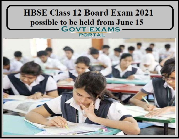 HBSE Class 12 Board Exam 2021 possible to be held from June 15