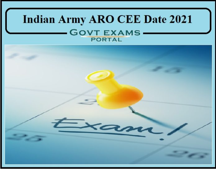 Indian Army ARO CEE Date 2021