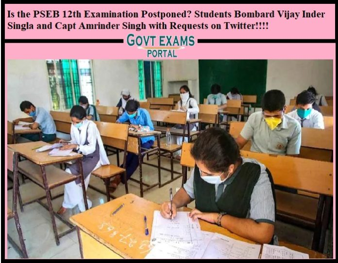 Is the PSEB 12th Examination Postponed, Students Bombard Vijay Inder Singla and Capt Amrinder Singh with Requests on Twitter
