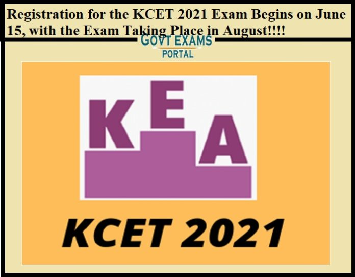 Registration for the KCET 2021 Exam Begins on June 15, with the Exam Taking Place in August!!!!