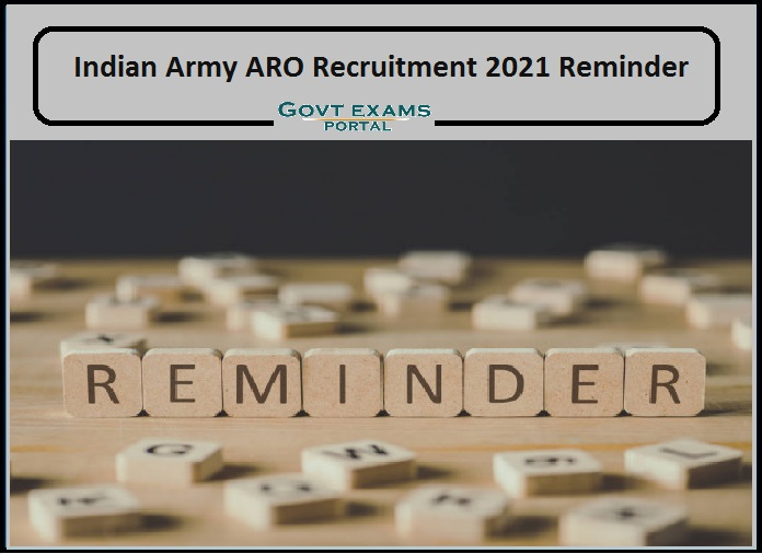for Indian Army ARO Recruitment 2021